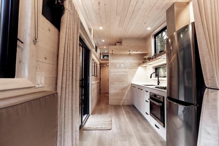 moderne architektur ecke zum kochen und essen