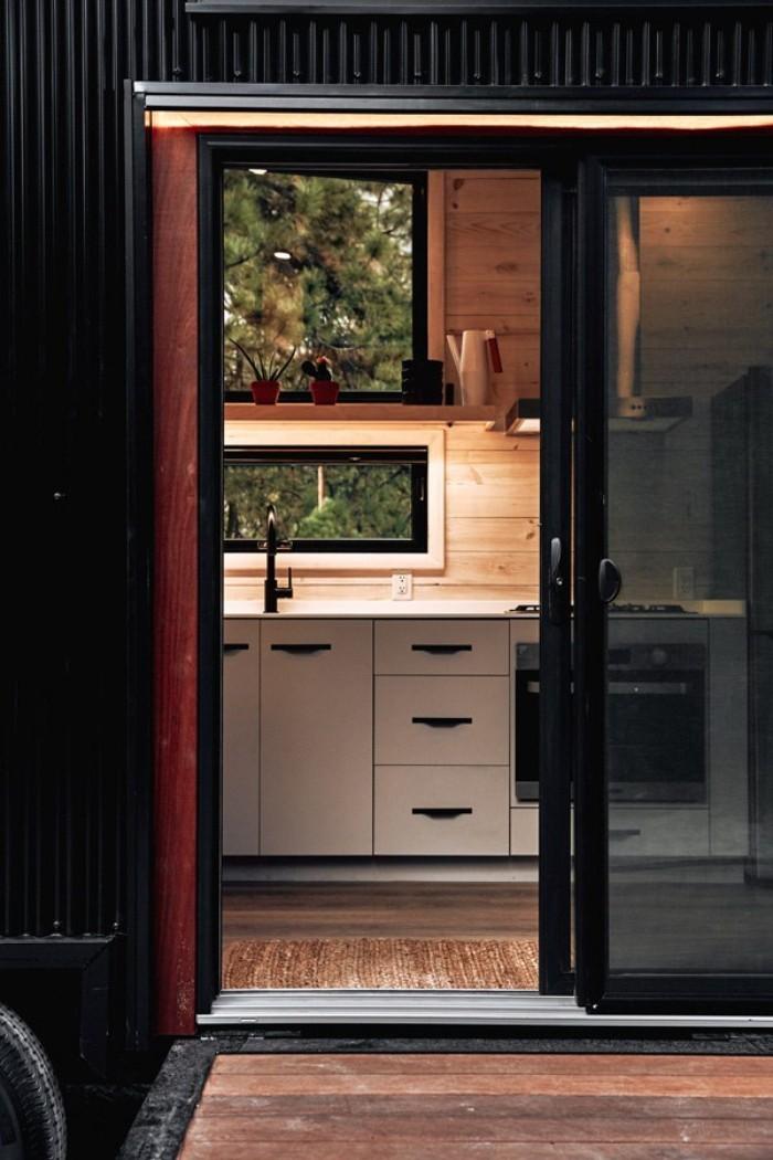 moderne architektur einsicht in der küche