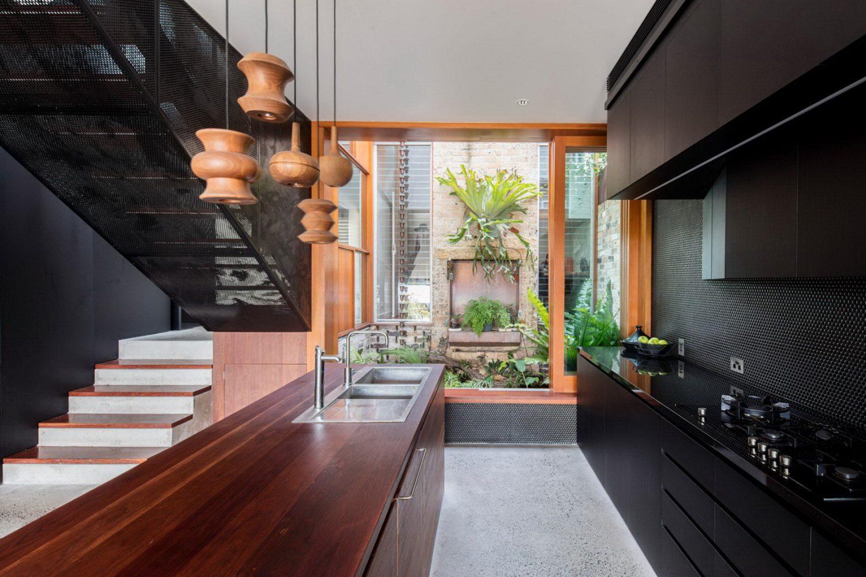 moderne inneneinrichtung längliche aufteilung der küche