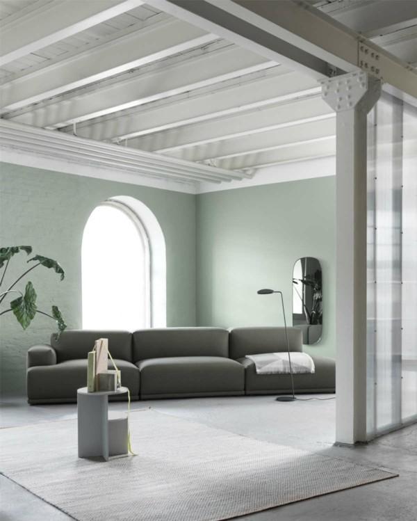 muuto wandfarben ideen neo mint wohnzimmer