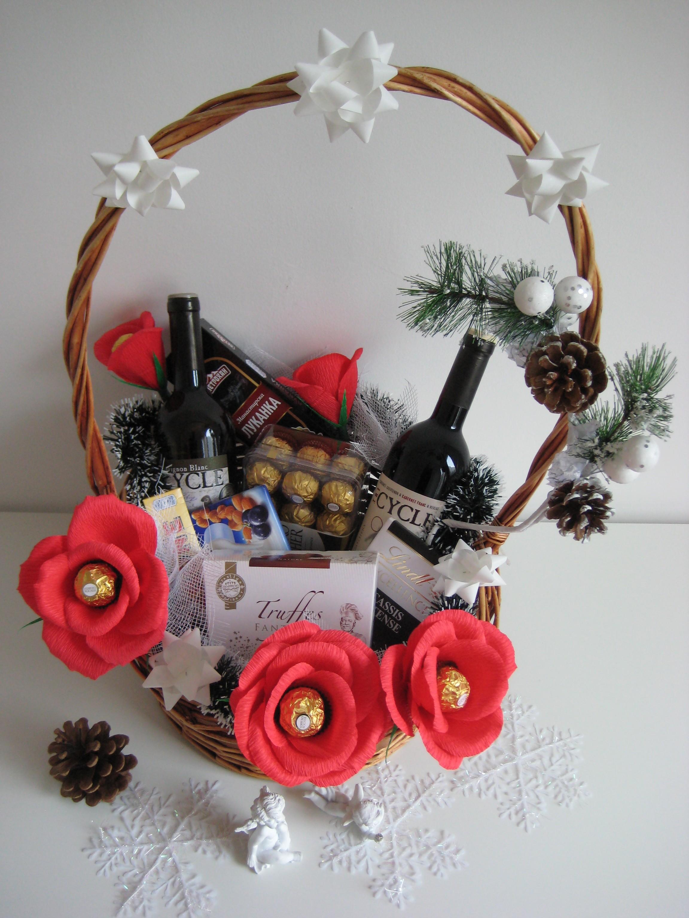 naturgaben korb weihnachtsgeschenke basteln