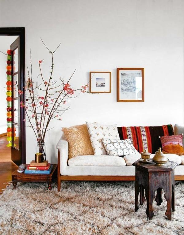 orientalisch einrichten bohemian style wohnzimmer