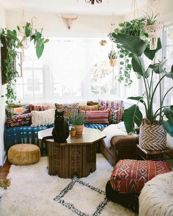 orientalisch einrichten boho chic wohnzimmer