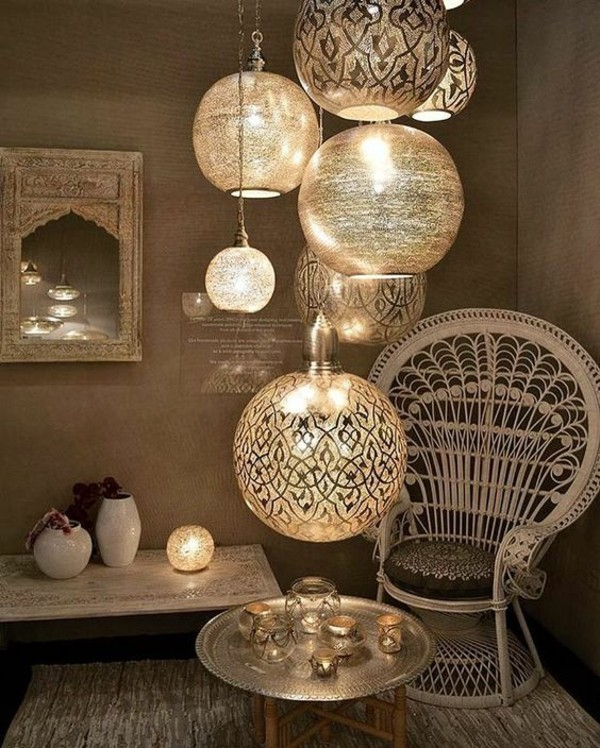 orientalisch einrichten leuchten wohnideen