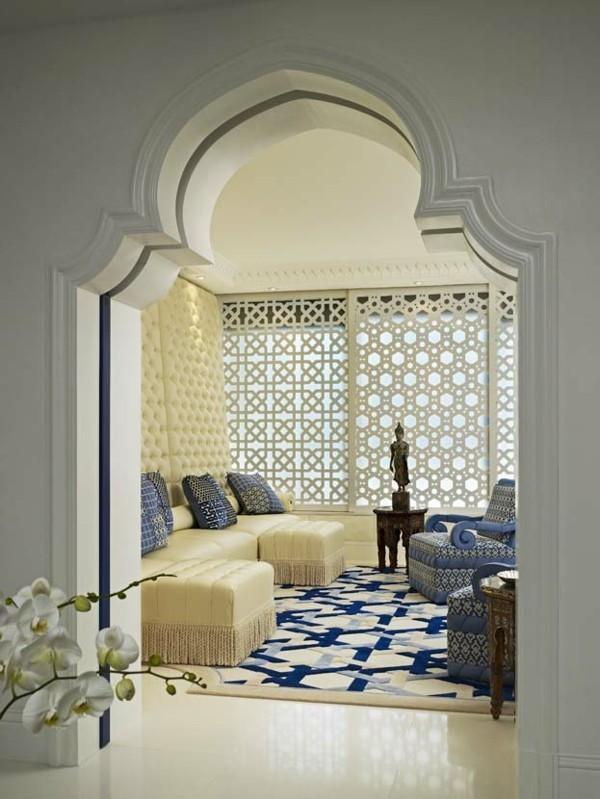 orientalisch einrichten wohnzimmer weiche teppiche