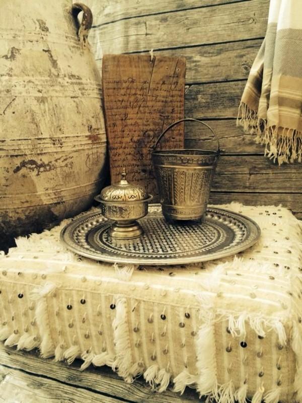 ottomane metallenes geschirr orientalisch einrichten