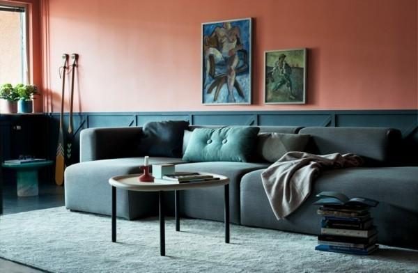 pantone farbe des jahres 2019 living coral wohnzimmer wandfarben ideen