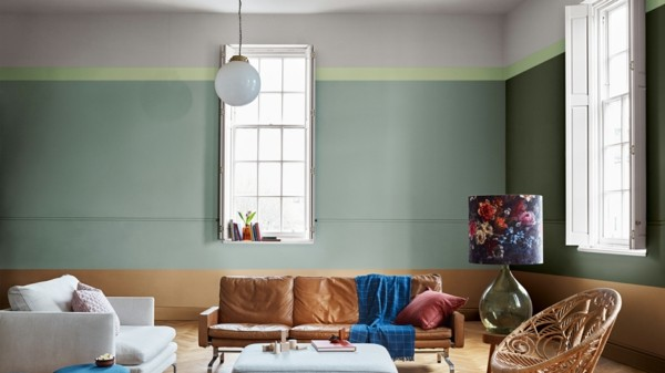 pastell grün spiced honey wandfarben ideen wohnzimmer