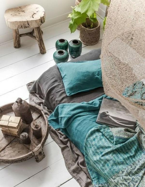 puristisches schlafzimmer orientalisch einrichten