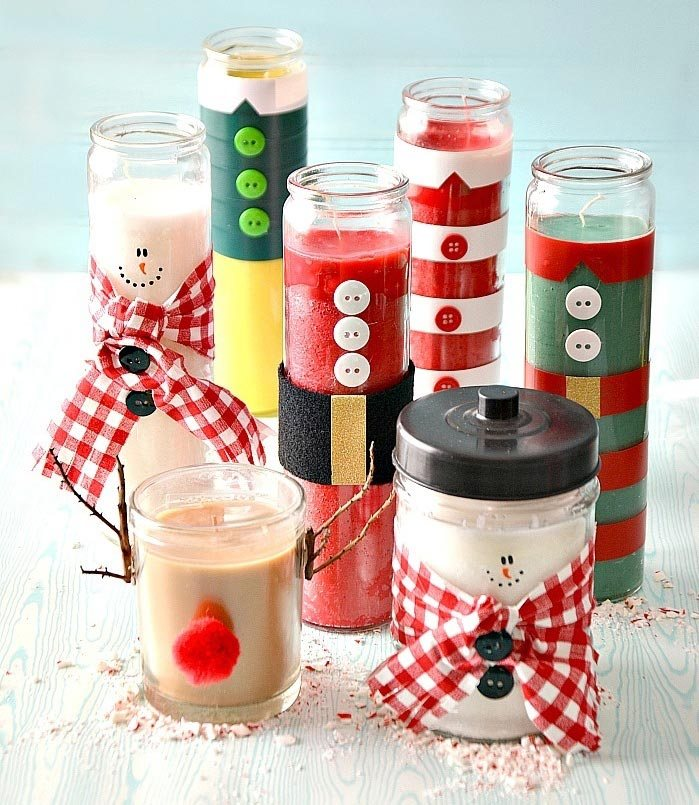 collection of candles making christmas presents