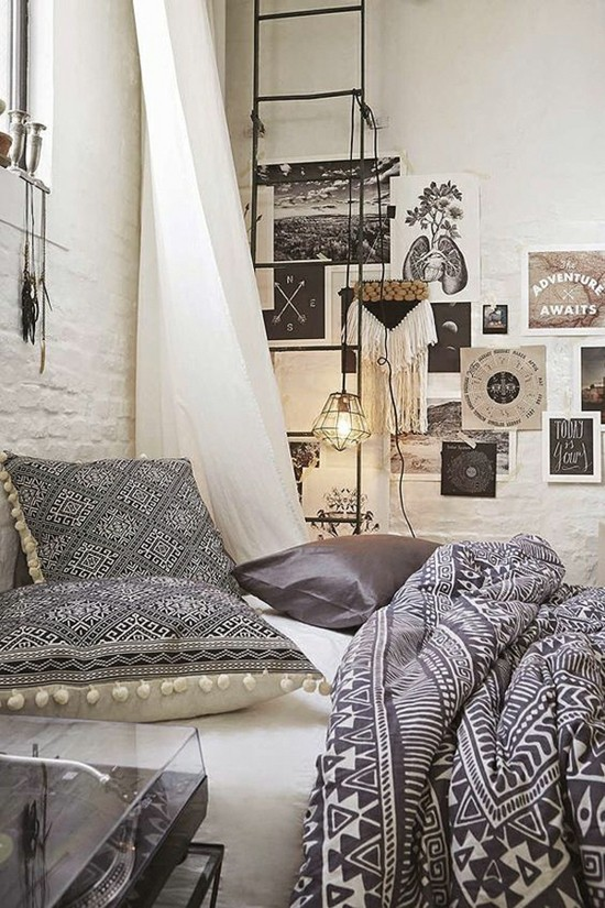 scandi bohemian style bedroom furnishing ideas