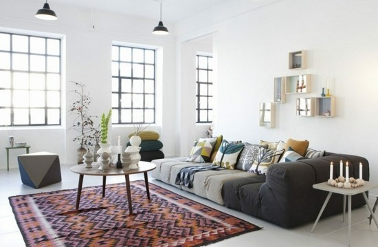 scandi boho chic home decor living room