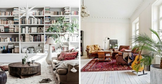 scandinavian boho style living room furnishing ideas