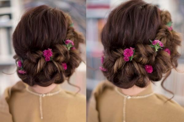 schöne frisuren rosa rosen