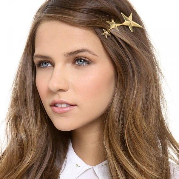 schöne frisuren tolle goldene sterne