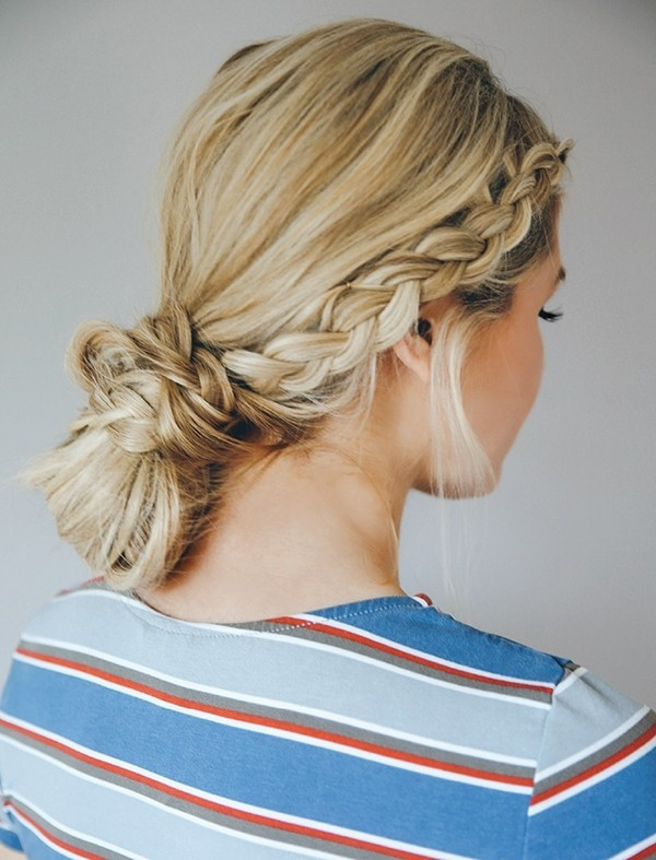 schöne frisuren zopf kombiniert mit braid