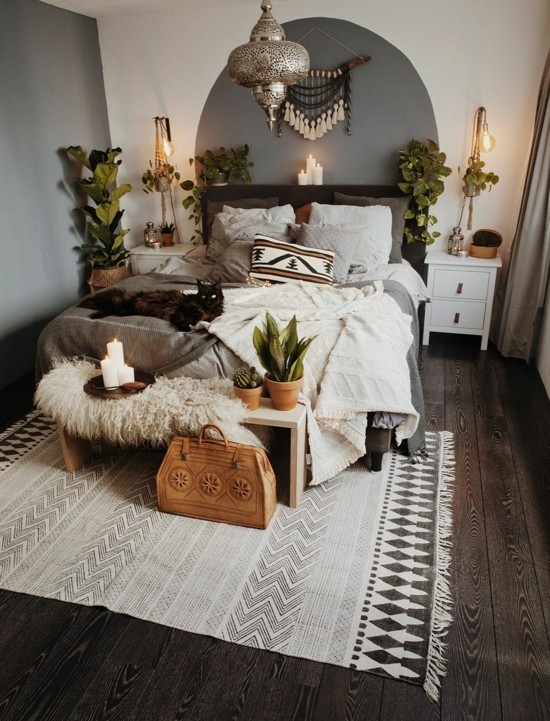 bedroom furnishing ideas boho scandi style