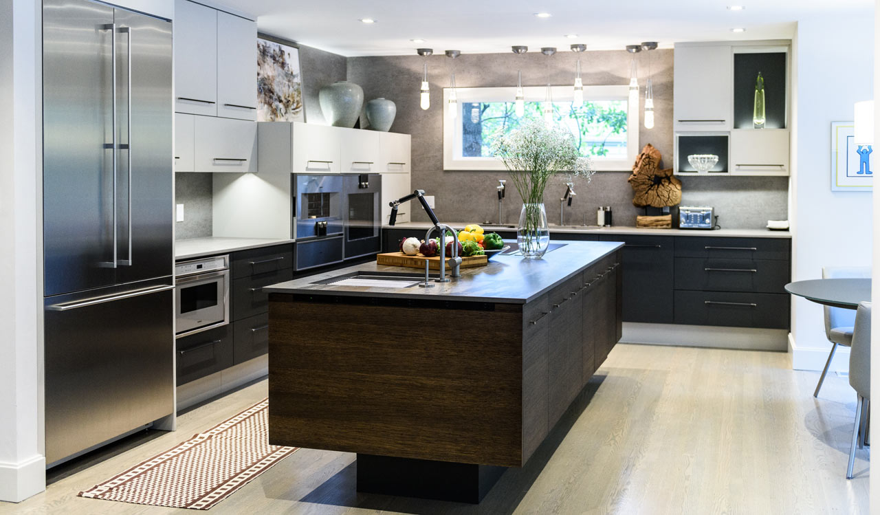 schwebende kücheninsel in der mitte Küchentrends