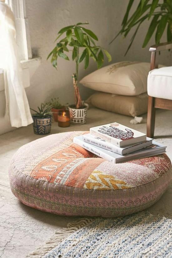 sitzkissen bodenkissen wohnzimmer einrichten