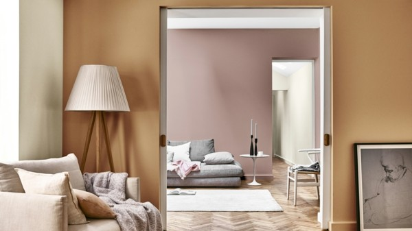 spiced honey heart wood dulux wandfarben ideen