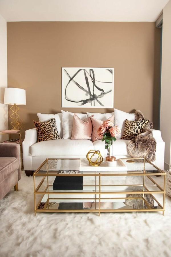 spiced honey wandfarben ideen wohnzimmer