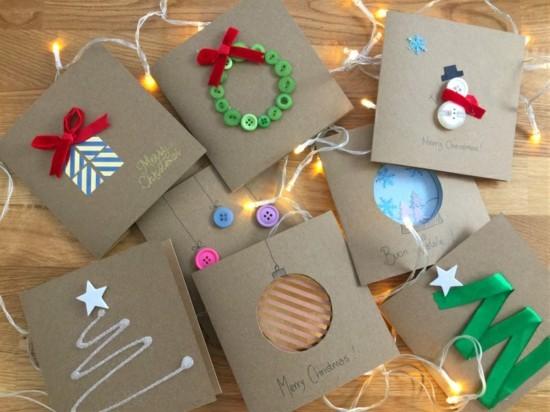 super einfache weihnachtskarten basteln