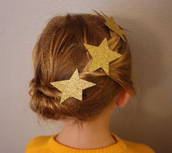 super glänzende sterne schöne frisuren