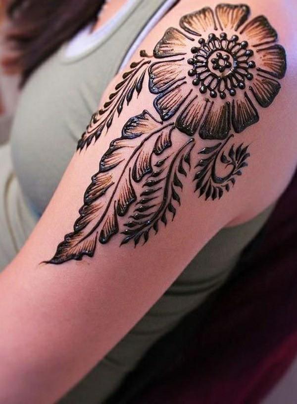 tattoo ideen henna schulter