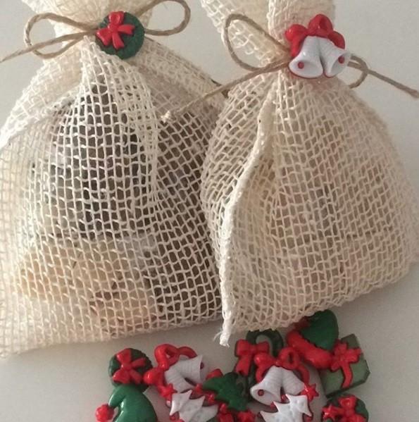 tolle stofftüten weihnachtsgeschenke basteln
