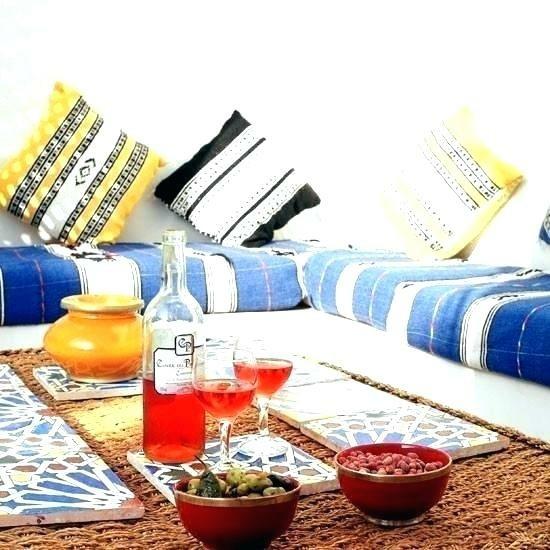 urban ethno style living room floor cushions