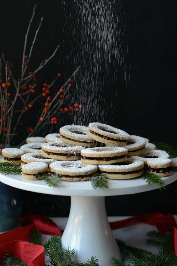 vegane plätzchen tortenständer puderzucker