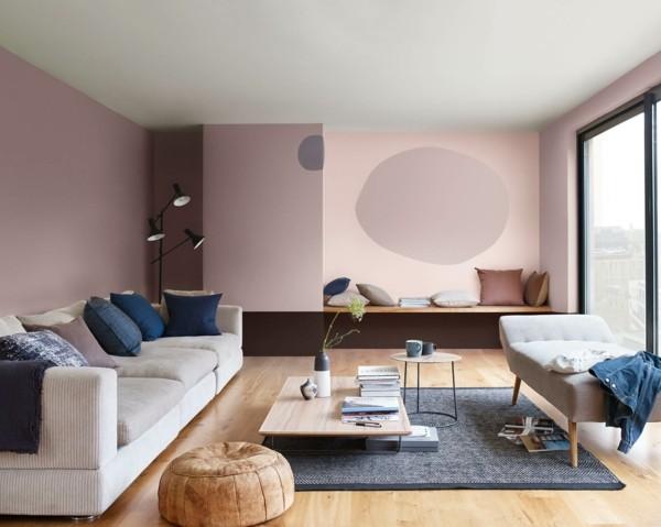 wandfarben ideen heart wood rosa dulux