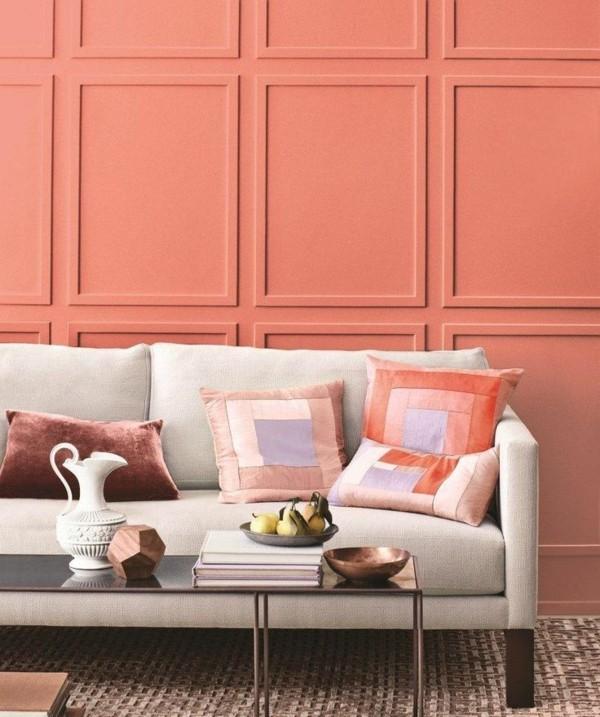 wandfarben ideen wohnzimmer apricot