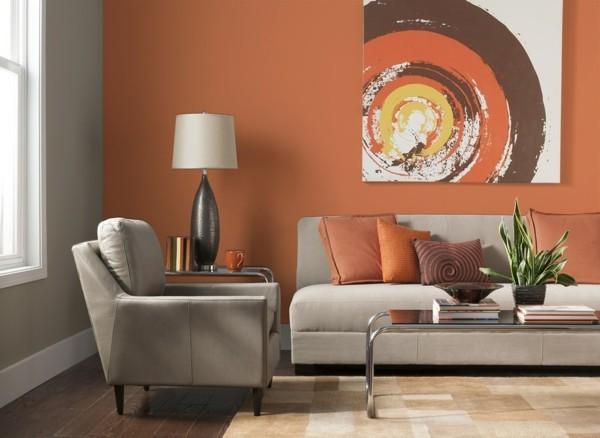 wandfarben ideen wohnzimmer einrichten