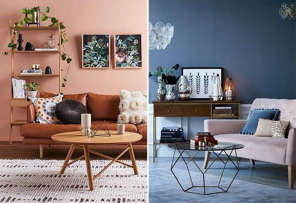 wandfarben ideen wohnzimmer modern