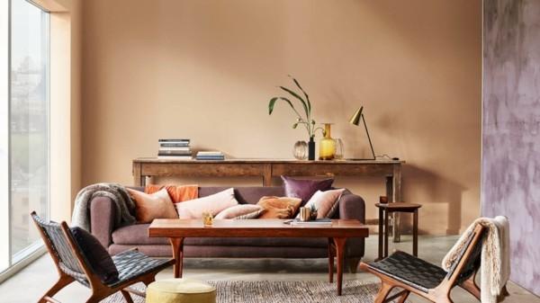 wandfarben ideen wohnzimmer spiced honey dulux