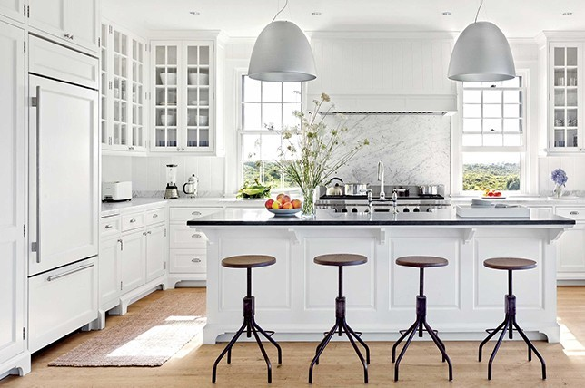 weiße tolle industrielle Küchentrends