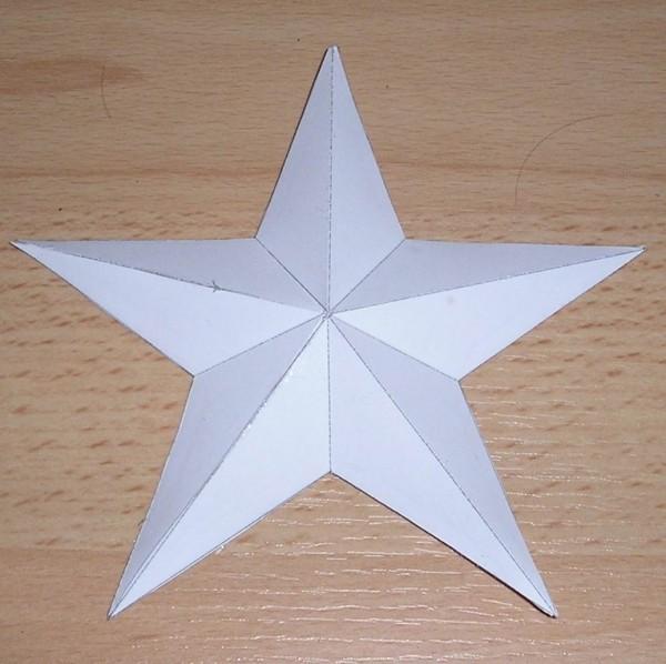 weißes design papiersterne basteln idee