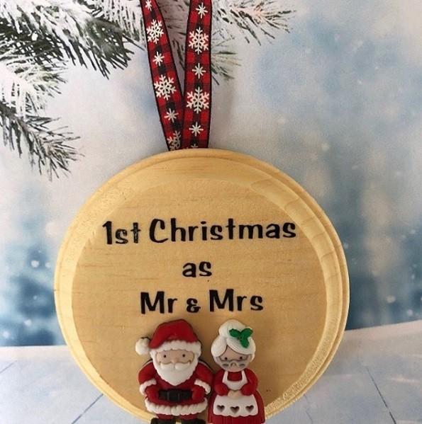 weihnachtsgeschenke basteln münze aus holz
