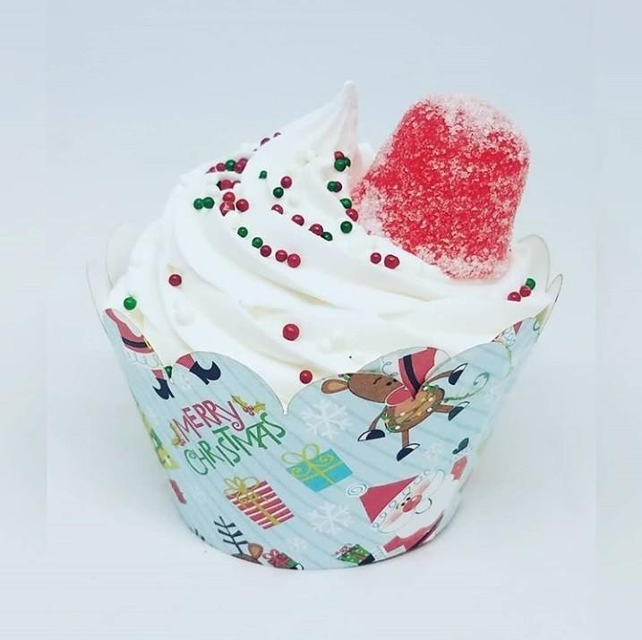 weihnachtsgeschenke basteln muffin mit sahne