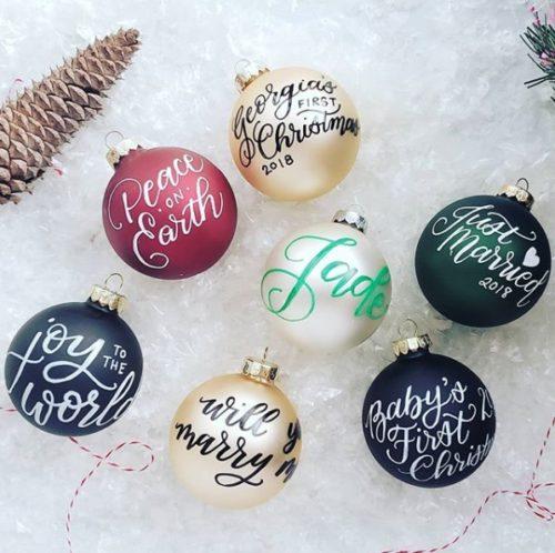 weihnachtsgeschenke basteln weihnachtskugeln