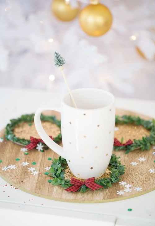 Christmas gifts cup for coffee