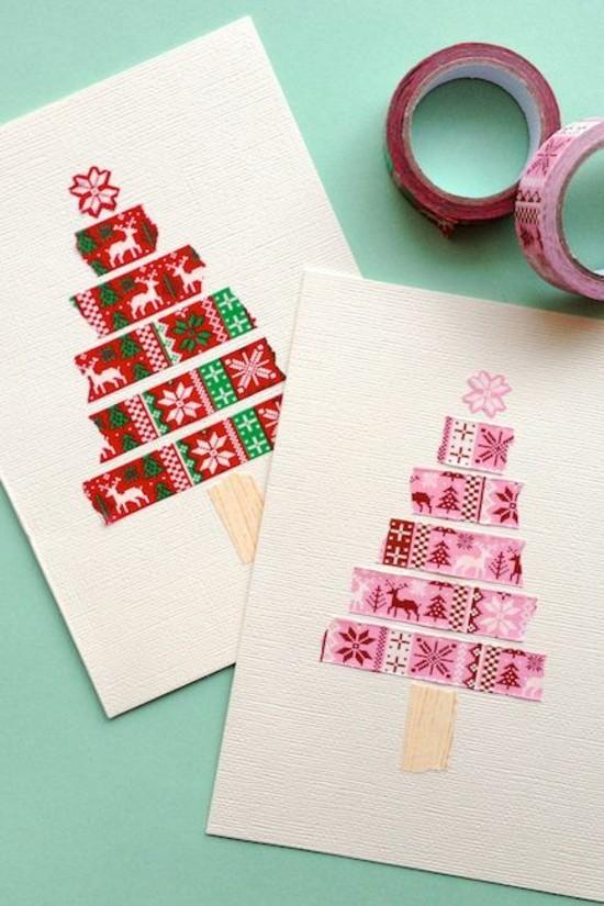 Weihnachtskarten Basteln Tannenbaum.60 Originelle Weihnachtskarten Basteln Mit Kindern