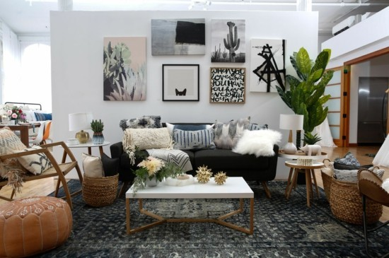 living room furnishing ideas boho scandi style
