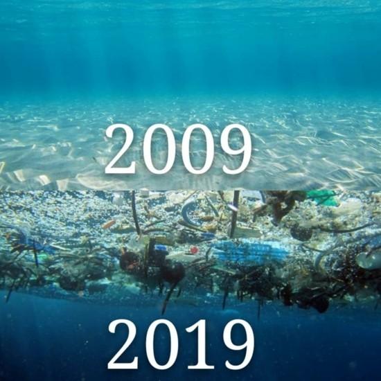 10yearchallenge umweltschutz plastik