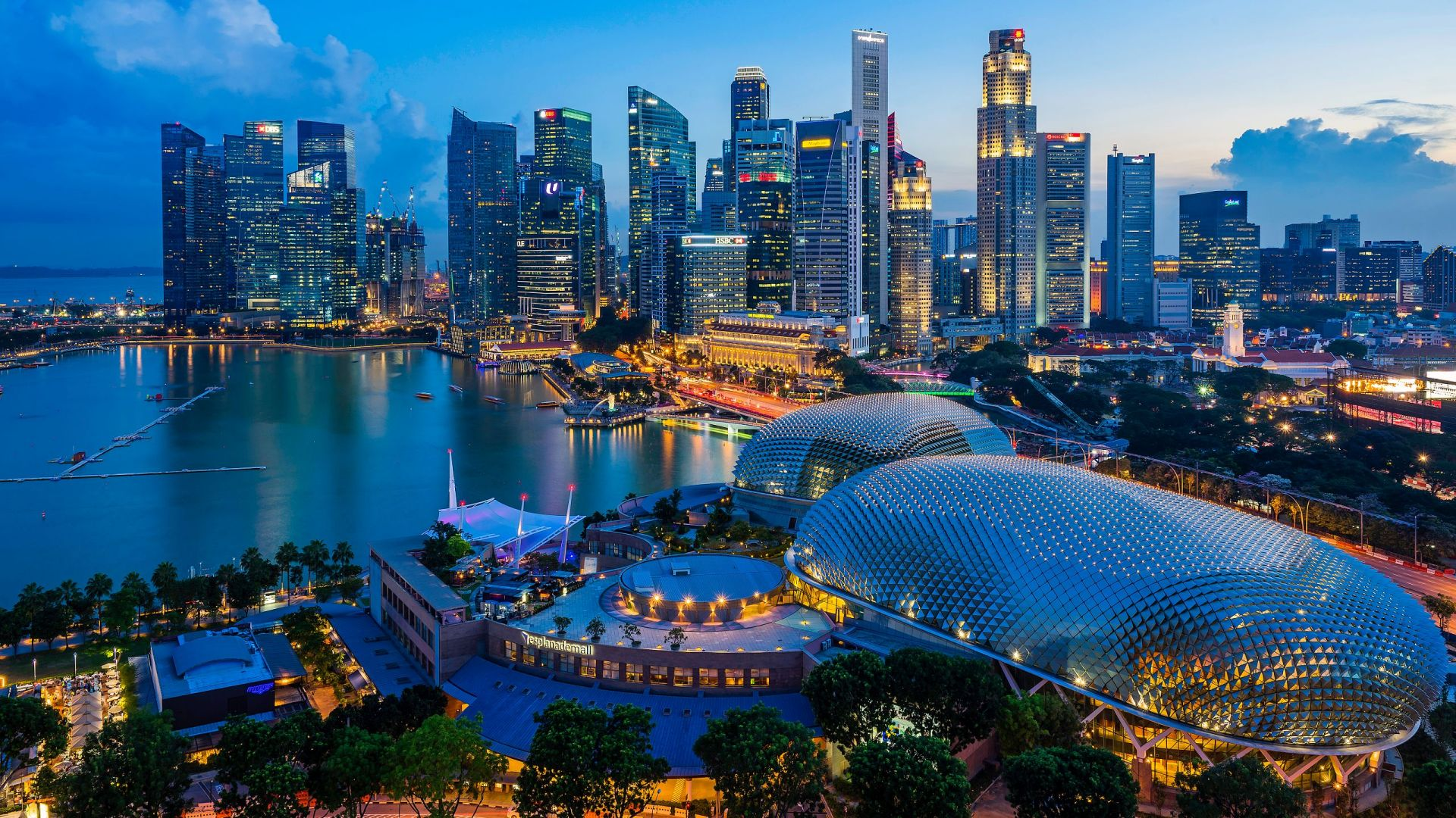 High-Tech Städte der Welt Singapur Sitz von DBS Bank
