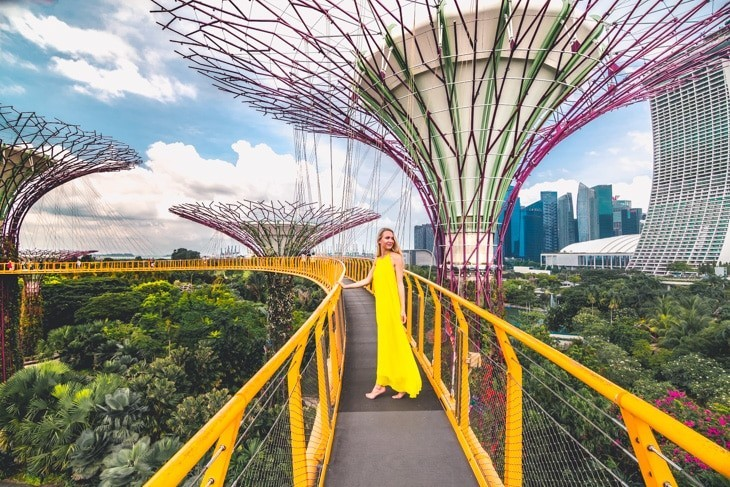 High-Tech Städte der Welt Singapur Sitz von Singtel und Flex