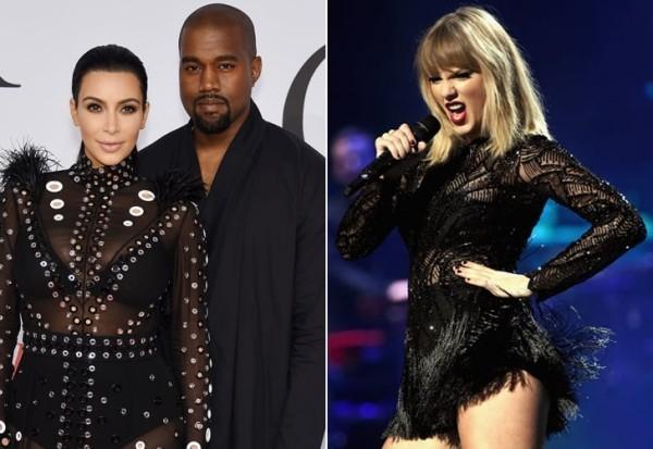 Kim Kardashian Taylor Swift Kanye West der stille Krieg auf der Bühne und außerhalb dieser