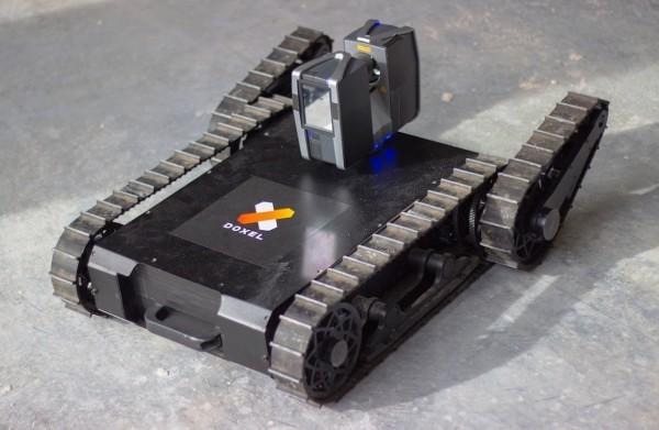 LIDAR und Künstliche Intelligenz von Doxel verbessern den Bau- und Immobiliensektor der kleine doxel roboter
