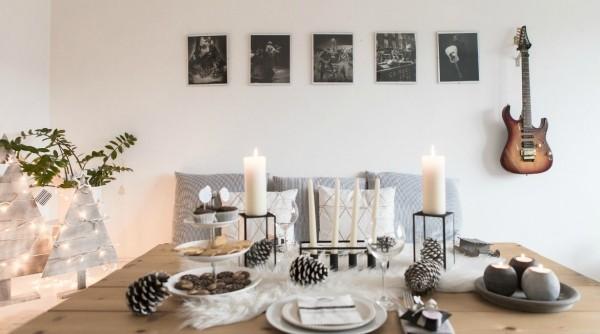 Natur ins Haus holen Deko Arrangement mit Gaben der Natur winterliche Stimmung